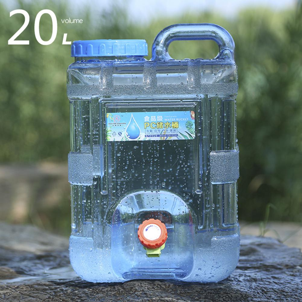 portable outdoor large capacity water container water tank bucket camping picnic driving kettle