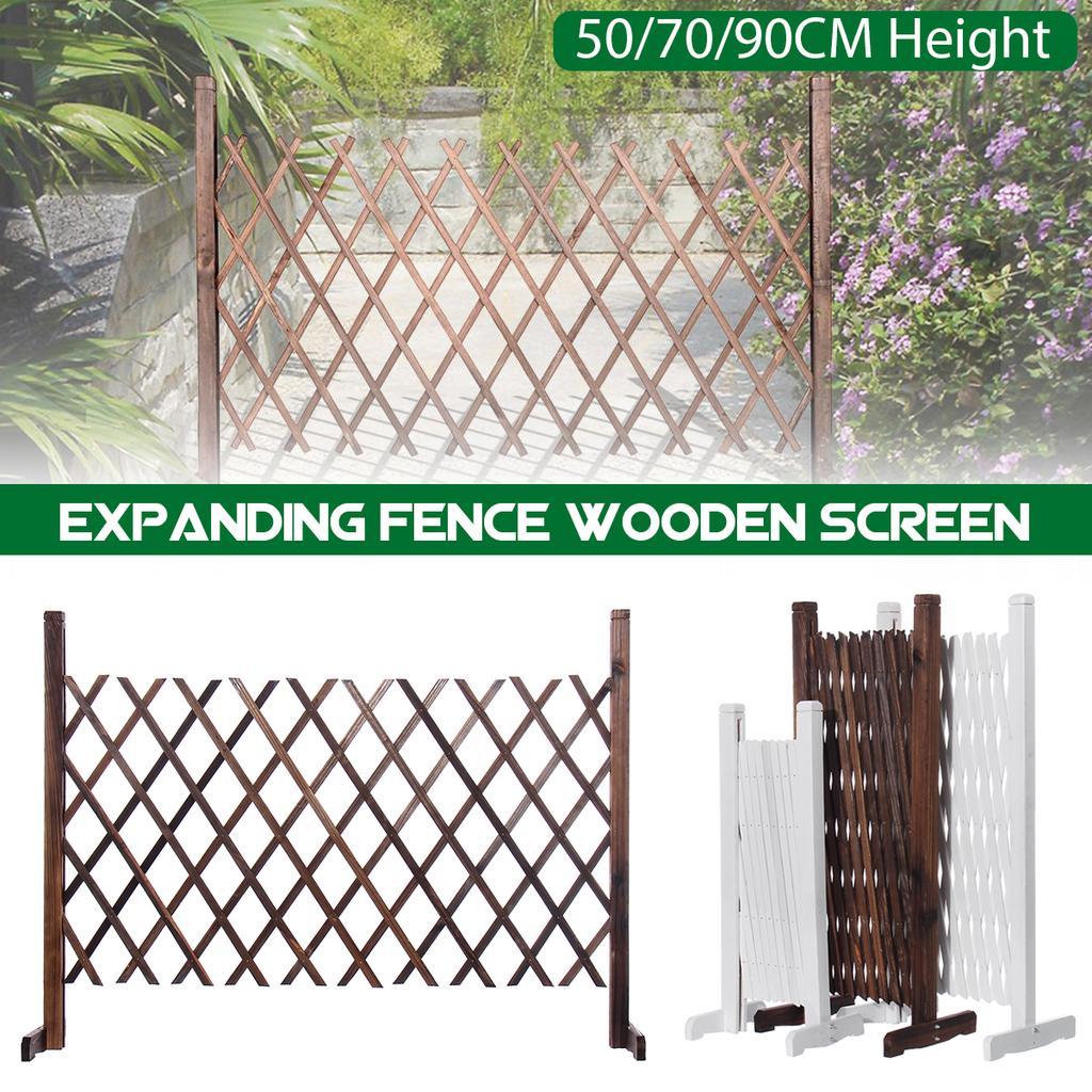 expanding portable wooden fence screen gate kid safety dog pet patio garden lawn for home yard decor