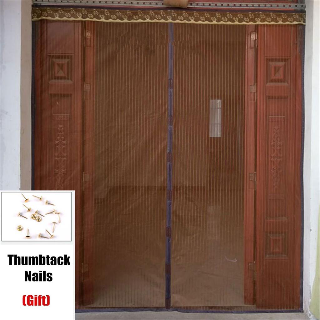210 240cm magnetic mosquito door screen mesh nets anti bugs insect door curtain