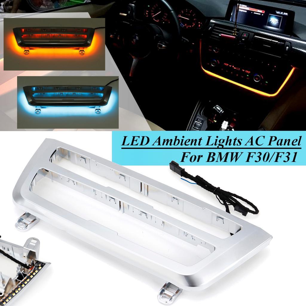 for bmw f30 f31 f32 f34 f35 f36 f80 f82 f83 12v led ambient light interior ac radio panel orange