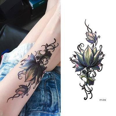 Flor 3d Sexy Tatuaje Temporal Impermeable Pegatinas Mujeres Hombres