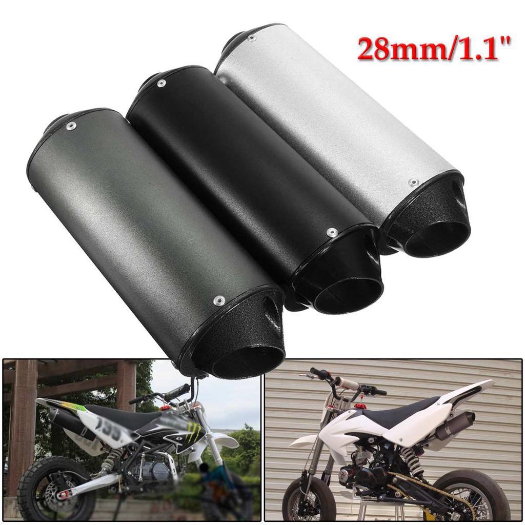 28mm motorcycle muffler exhaust pipe silencer 50cc 110cc 125cc dirt pit rro quad bike atv