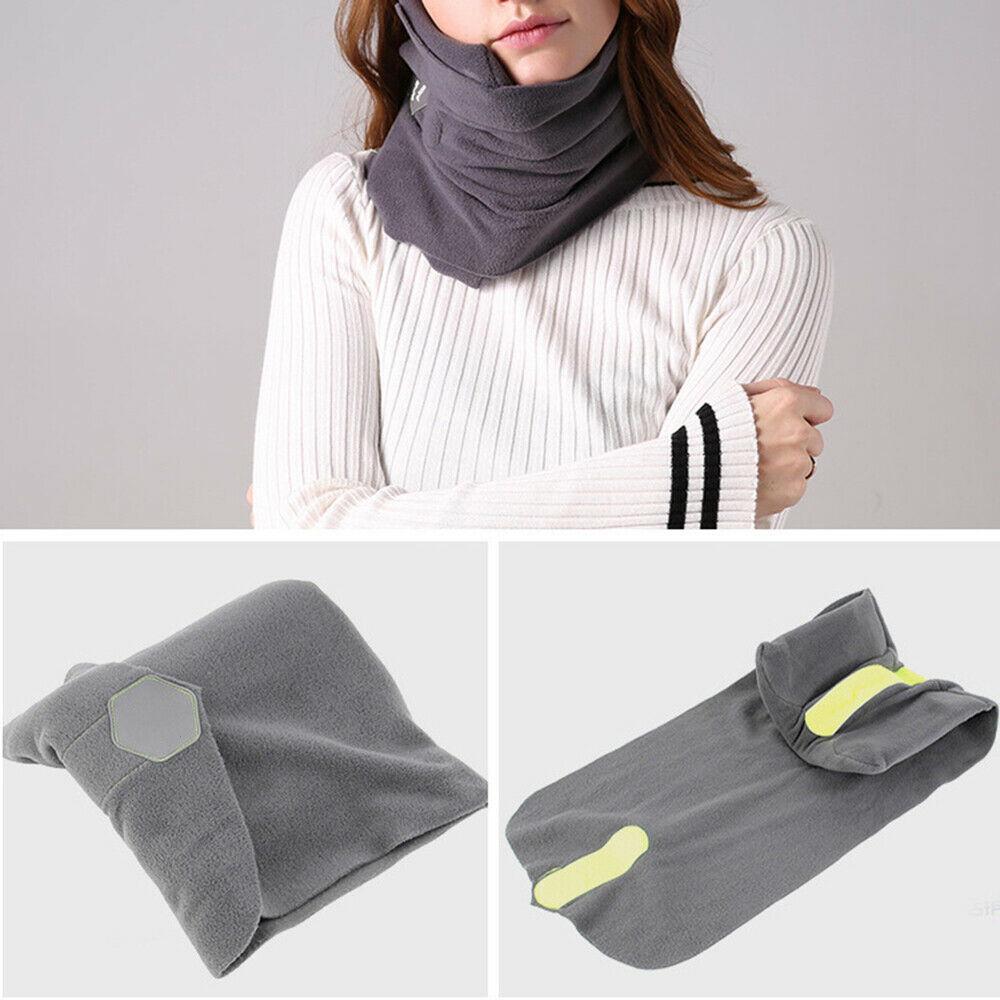 soft portable neck support headrest travel flight sleep nap scarf pillow travel supplies