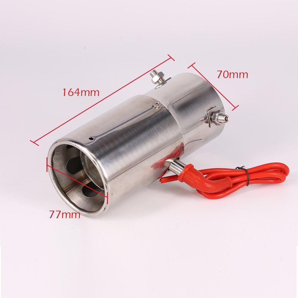 exhaust pipe muffler spitfire led red light flaming universal car tail tip 30 to 63mm