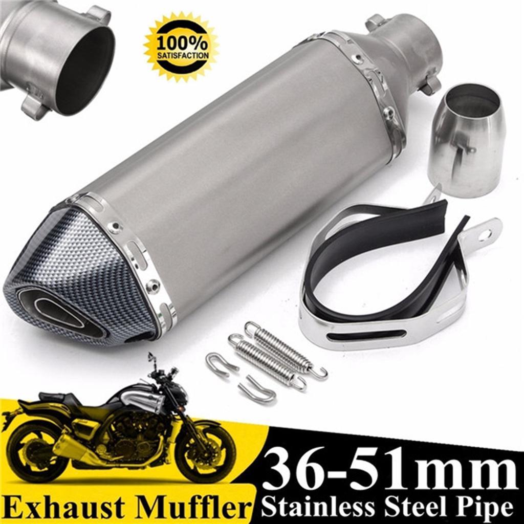 universal 38 51mm motorcycle exhaust muffler pipe silencer dirt bike street bike scooter atv quad