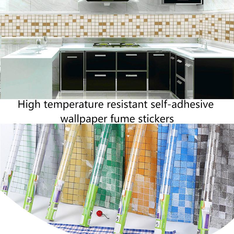 home useful kitchen oil proof waterproof sticker self adhesive wallpaper peel and stick backsplash for for drawer stove countertop