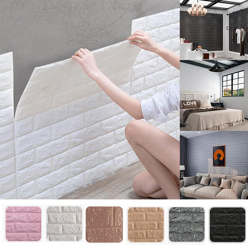 Buy Practical 3d Brick Wall Panels Peel And Stick Adhesive Wallpaper For Living Room Bedroom Background Kitchen Decoration At Affordable Prices Free Shipping Real Reviews With Photos Joom
