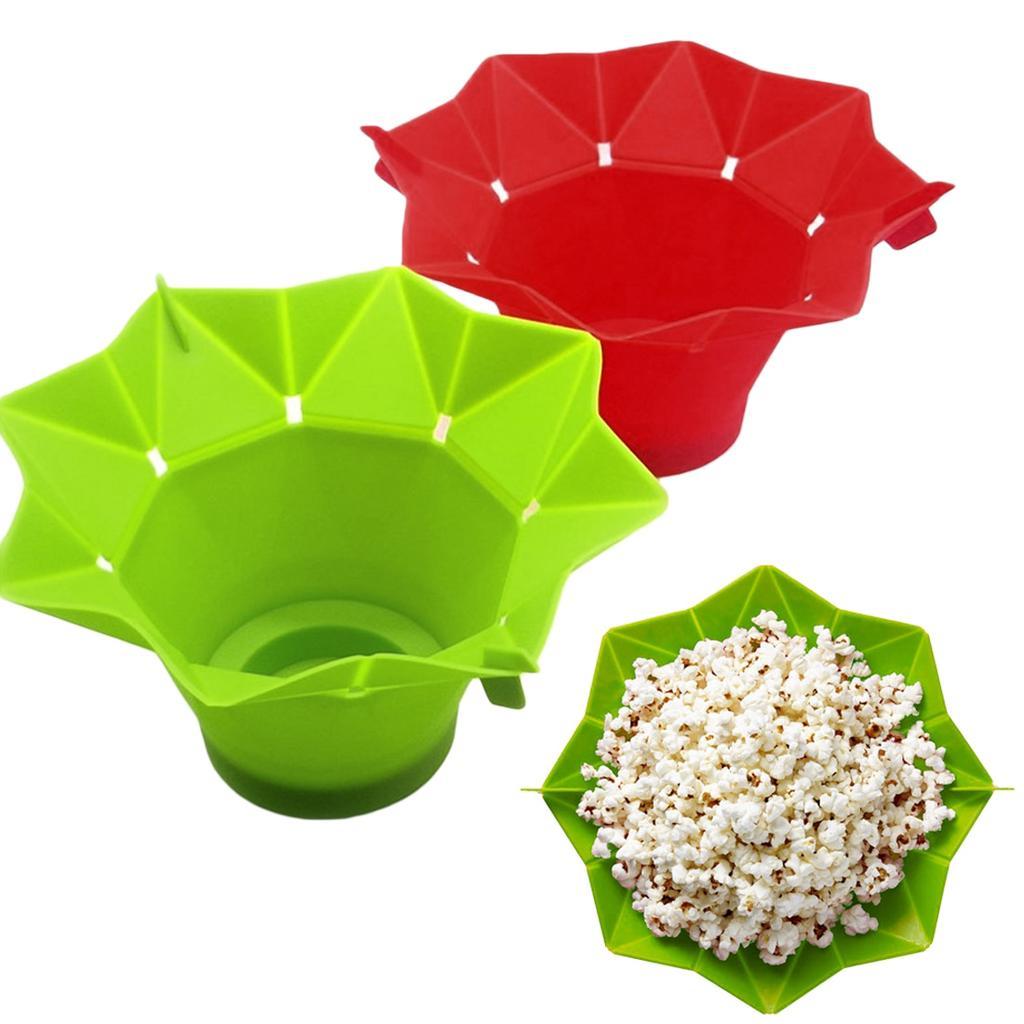 silicone microwave popcorn maker popper homemade popcorn bowl baking tools kitchen diy bucket