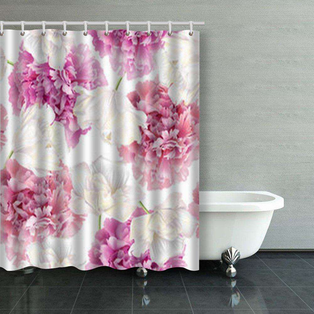 seamless pattern pink peony white tulip shower curtains bathroom curtain 60x72inch 150x180cm