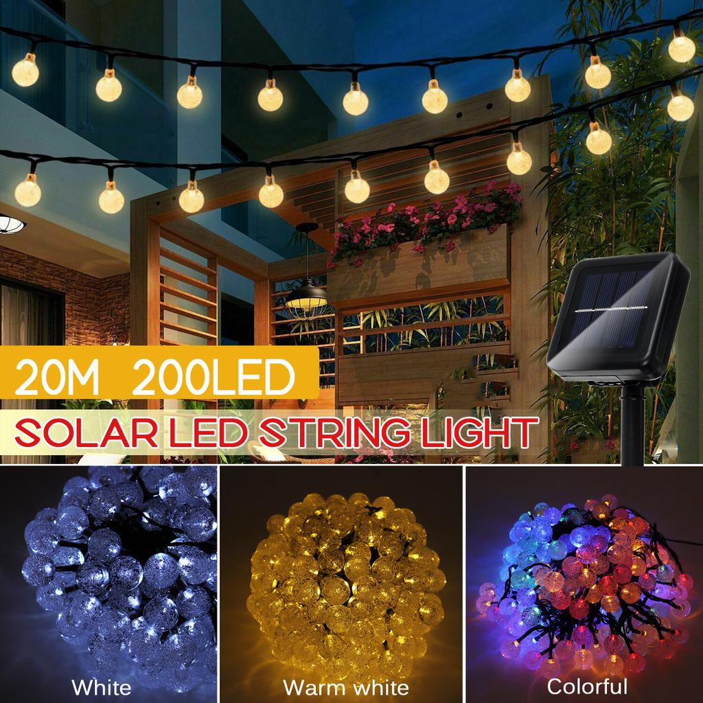 multicolored 200 balls upoom solar string lights crystal ball fairy lamp for home garden patio yard christmas waterproof buy at a low prices on joom