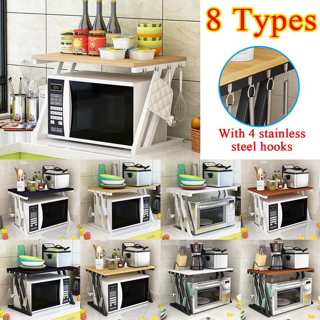 8 type microwave oven rack kitchen baker rack microwave oven stand holder storage workstation shelf