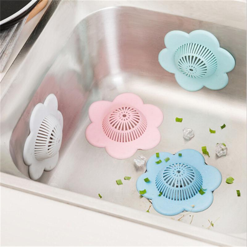 1pcs silicone sink drain filter bathtub hair catcher stopper trapper drain hole filter straine