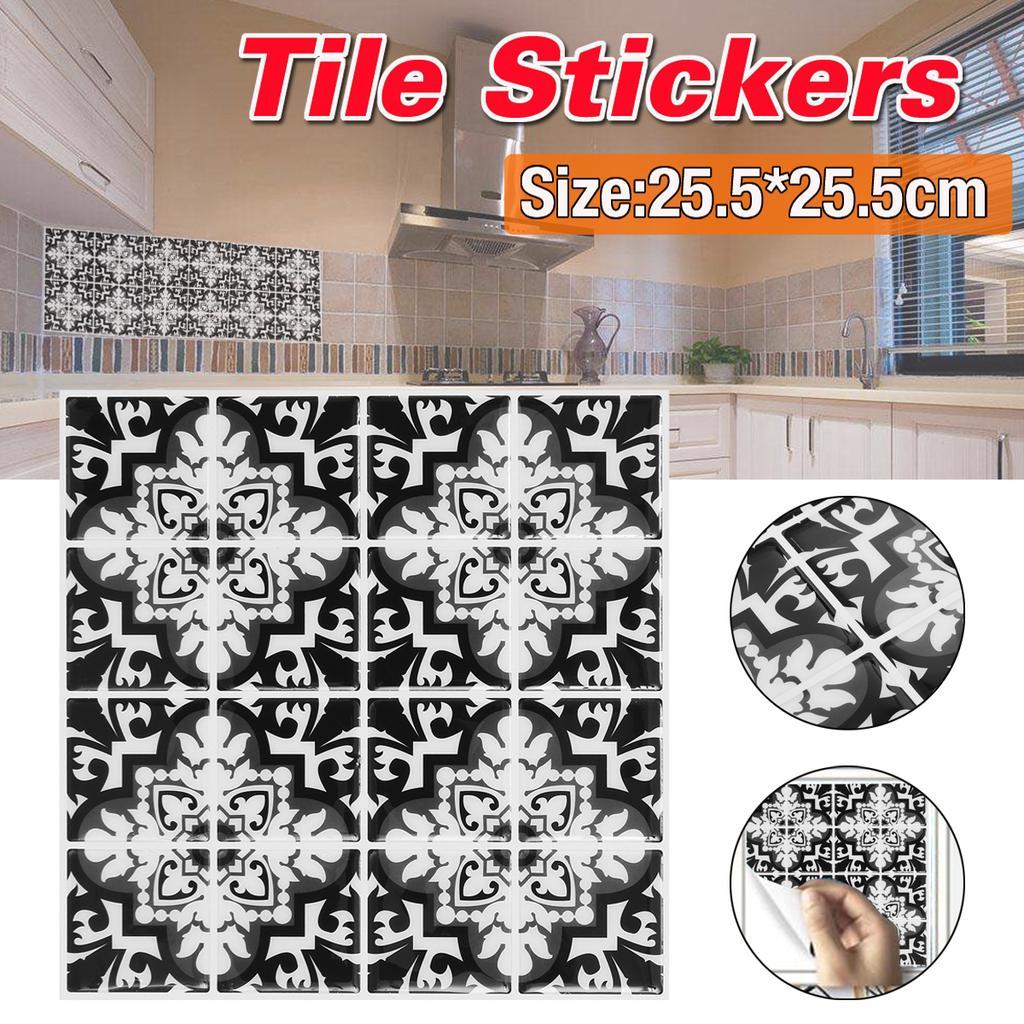 3d mosaic self adhesive wall tile stickers waterproof kitchen bathroom decor