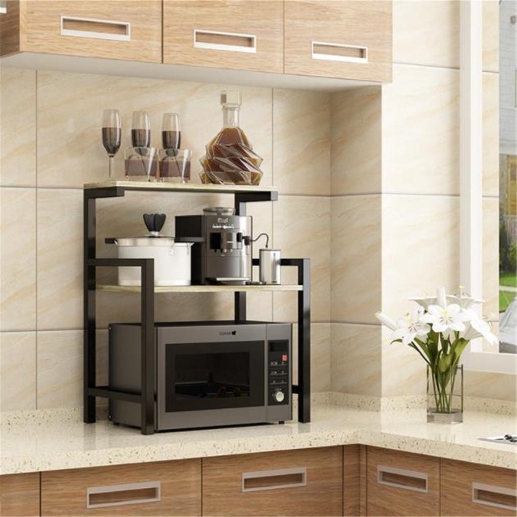 2 tier microwave oven stand shelf storage rack storage organiser kitchen holder buy at a low prices on joom e commerce platform