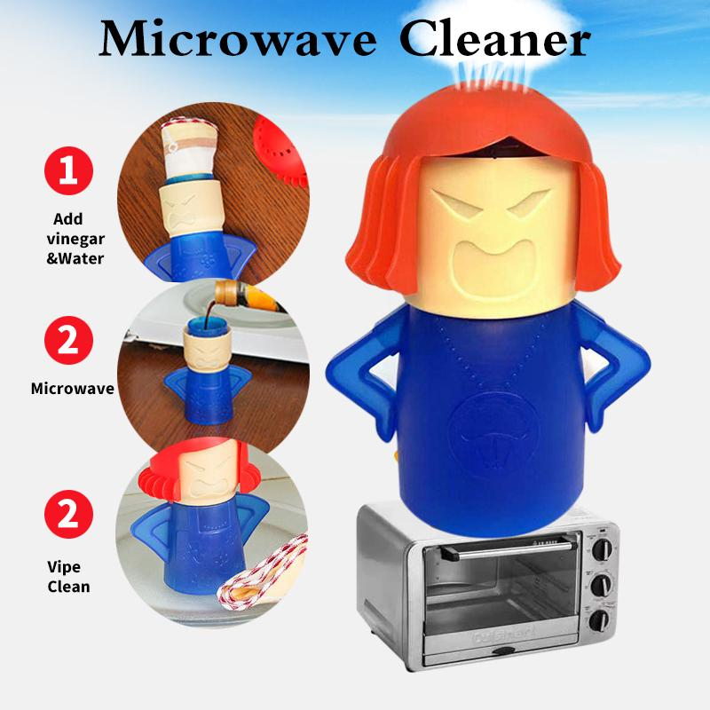 angry mama home convenient plastic safe cleaner microwave oven steam cleaner microwave cleaner