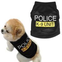 Pet Dog Black Police K-9 Unit Vest T-Shirt Puppy Cat ...