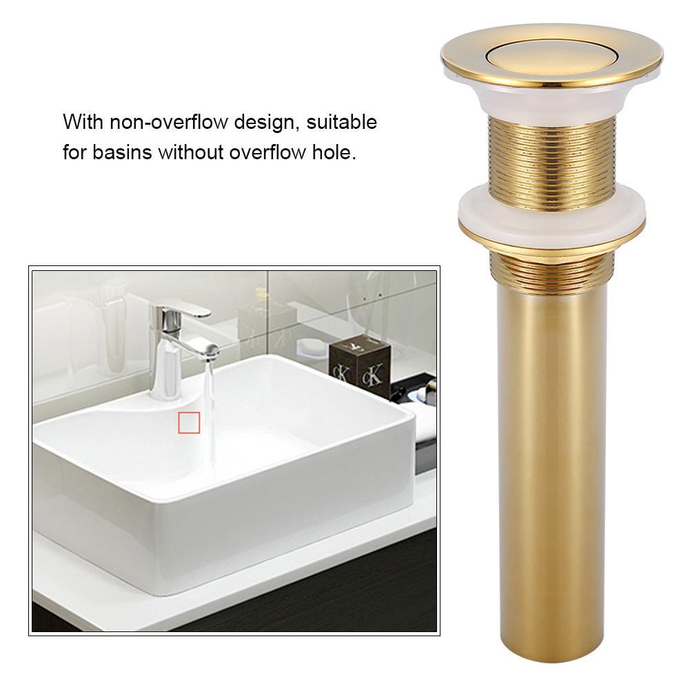 g1 1 4 brass bathroom basin sink pop up drain assembly non overflow