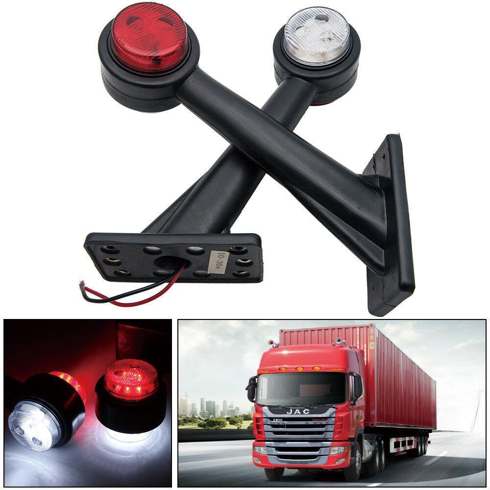 x6 led trailer truck caravan side marker lights outline stalk lamp