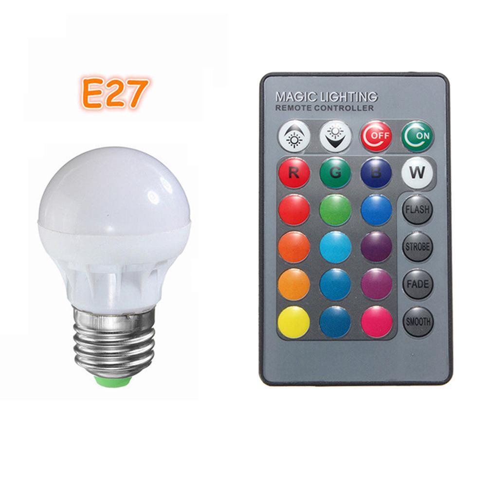 bulb 3w rgb b22 e27 led light bulb 16 colors changing lamp ir remote control 85 265v buy at a low prices on joom e commerce platform