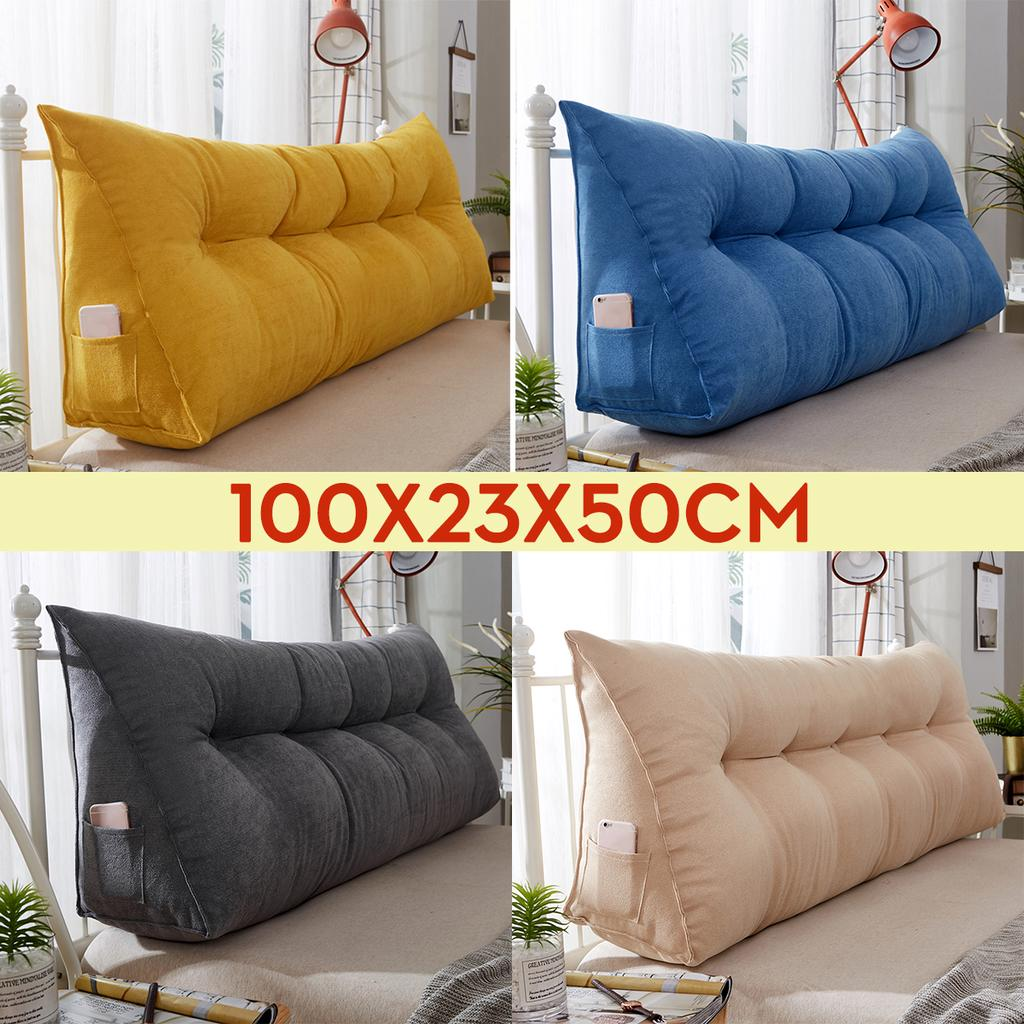 100 23 50cm sofa bed large filled triangular wedge cushion backrest positioning support pillow reading office lumbar pad with removable cover