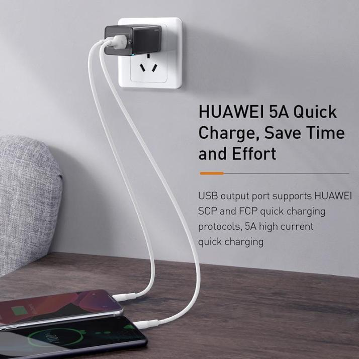 Baseus 65W GaN Mini Quick Charger 4.0 3.0 PD Quick Price In Bd