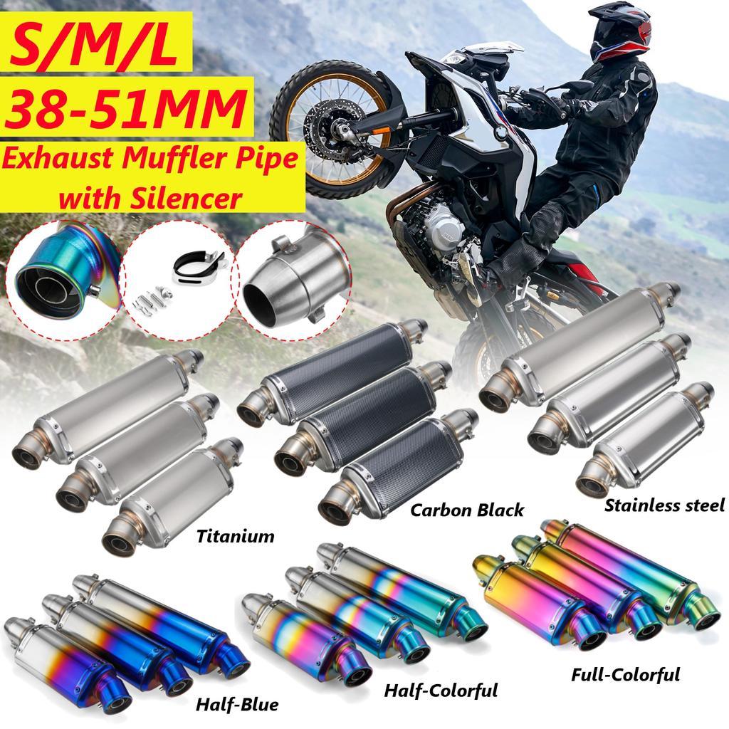 38 51mm universal motorcycle exhaust muffler pipe silencer modified scooter pit bike dirt motocross kjop til lave priser i nettbutikken joom