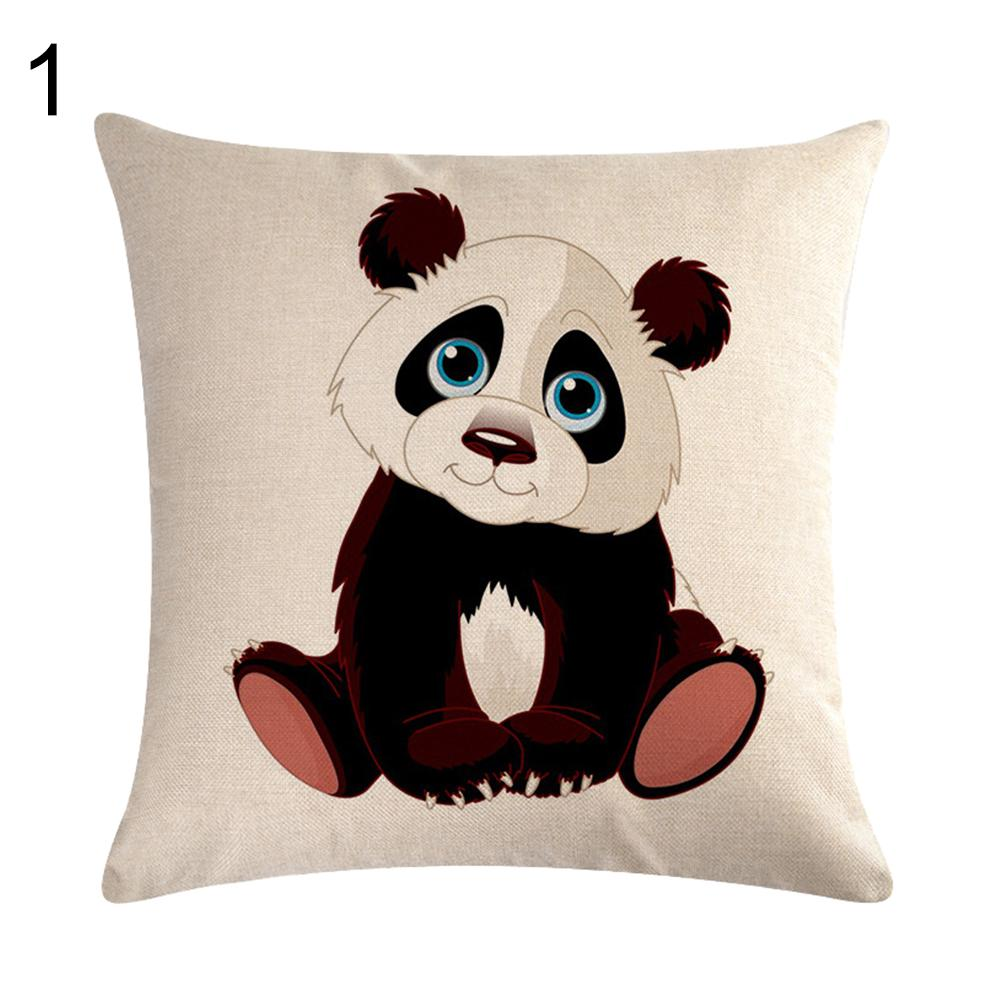 cute panda pillow case cartoon animals