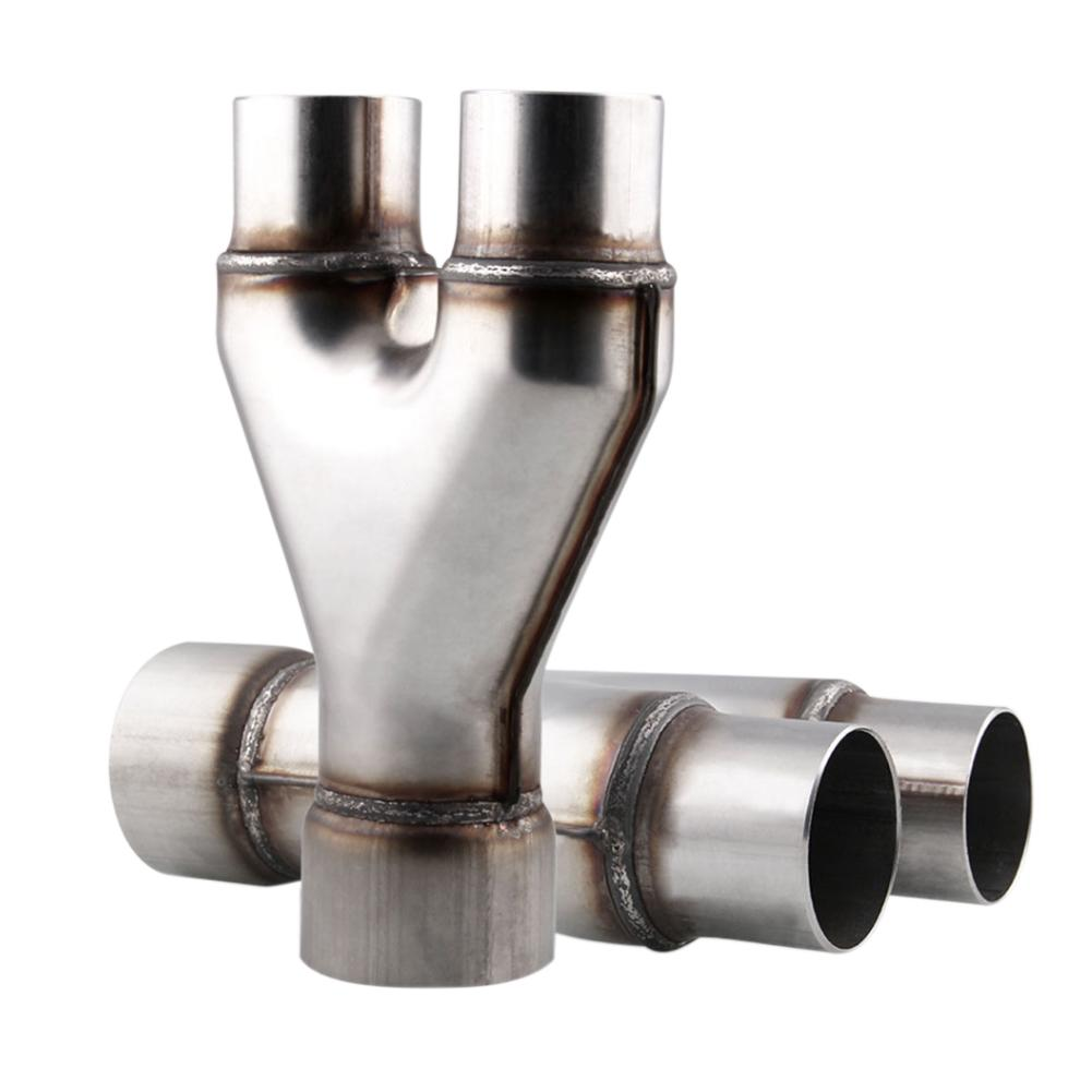 1 pcs exhaust y pipe adapter connector 3 inch single to2 5 inch dual buy at a low prices on joom e commerce platform