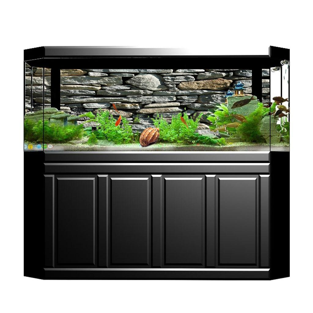 3d hd aquarium universe landscape poster fish tank background 61x30cm