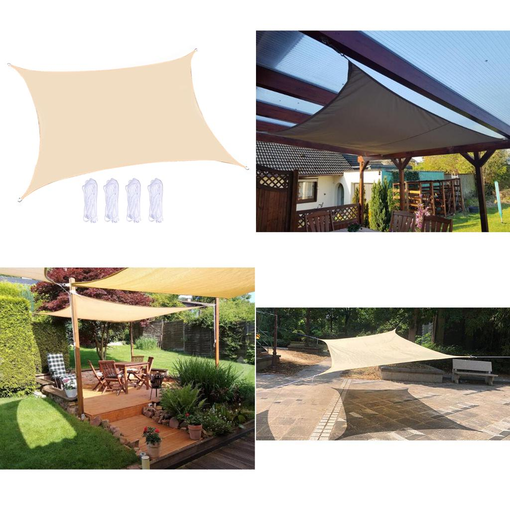 shade sail parasol canvas triangular square uv protection waterproof for garden patio pool