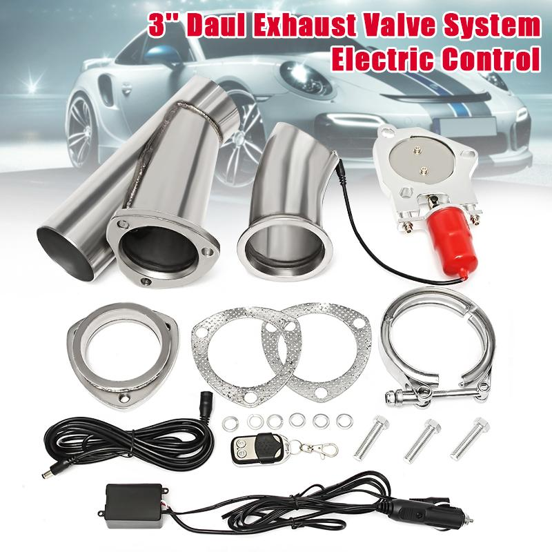 3 inch electric exhaust valve catback downpipe systems kit remote intelligent e cut exhaust cutout stainless steel headers