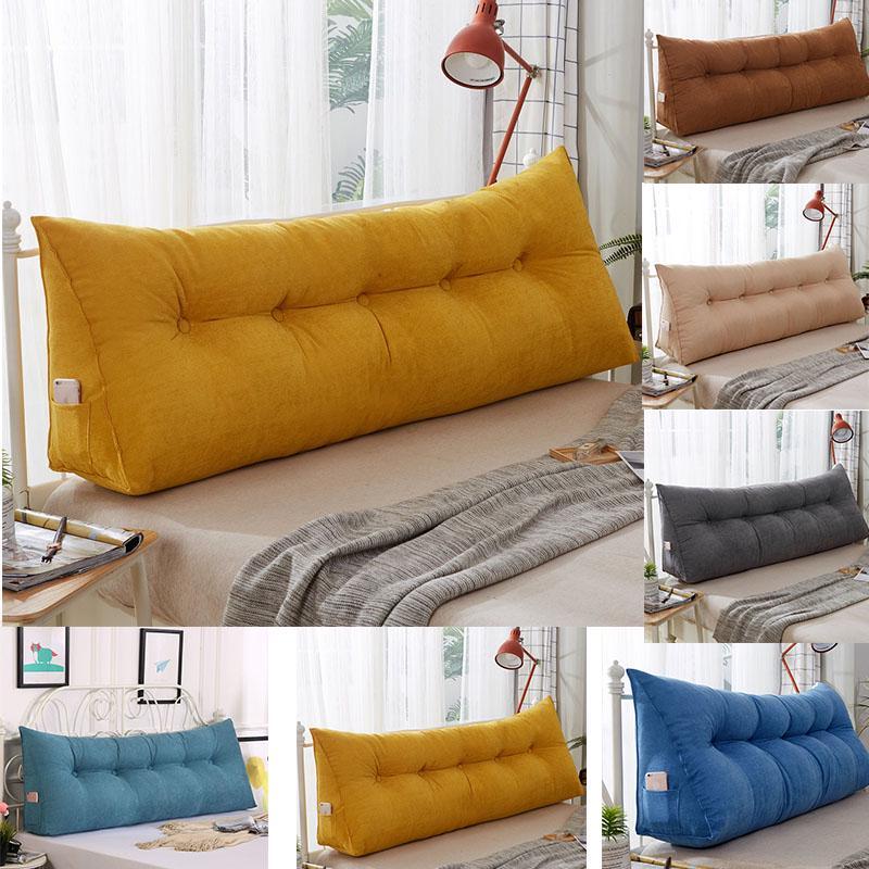 80x50x22cm triangular bedside big pillow large backrest soft bed headrest long pillow for home