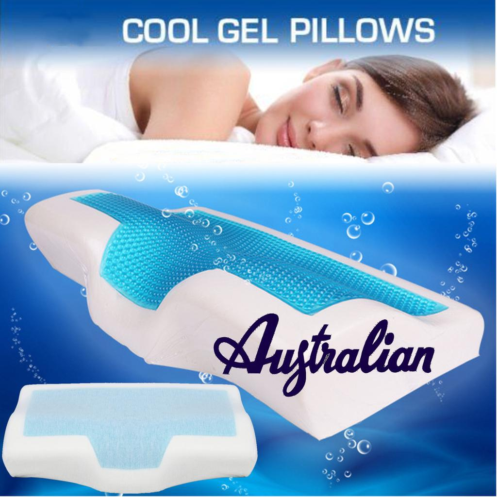 memory foam cool gel pillow summer ice cool anti snore neck orthopedic sleep cushion pillowcover