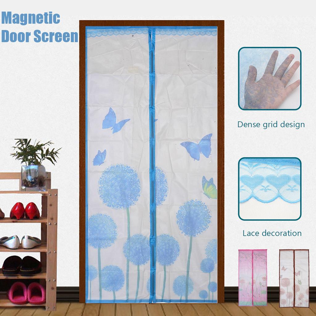100x210cm magnetic screen door anti mosquito self sealing curtain mesh transparent buy at a low prices on joom e commerce platform
