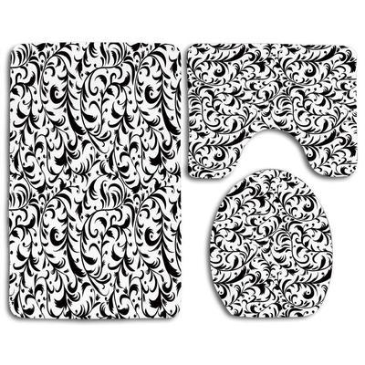 paisley black white pattern 3 piece