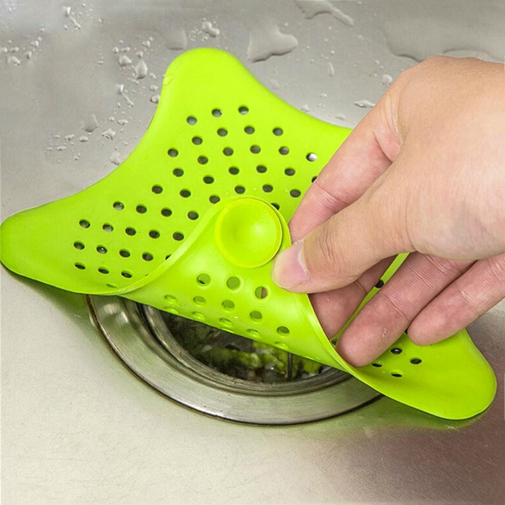 silicone suckers kitchen bathroom sink accessories sewer hair colanders strainers filter