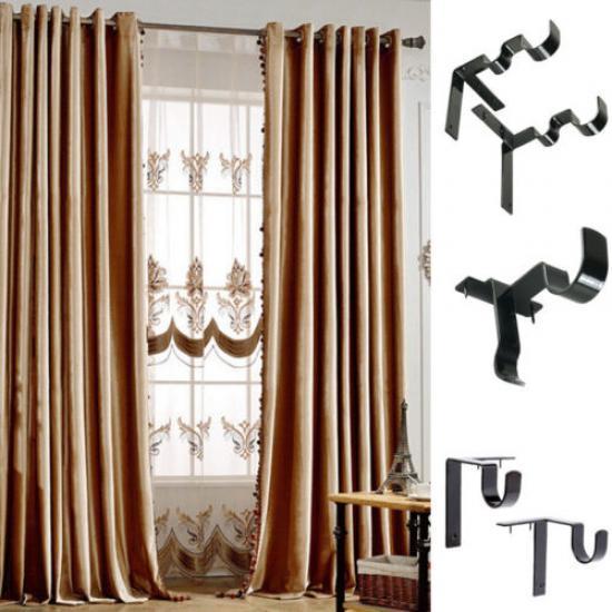 curtain rod brackets rod holder adjustable mount wall bracket hook window