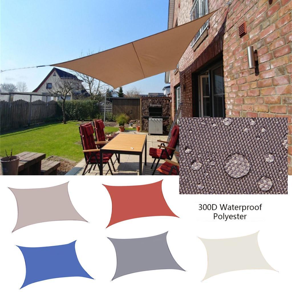 waterproof sun shade sail uv patio outdoor top canopy rectangle cover for garden