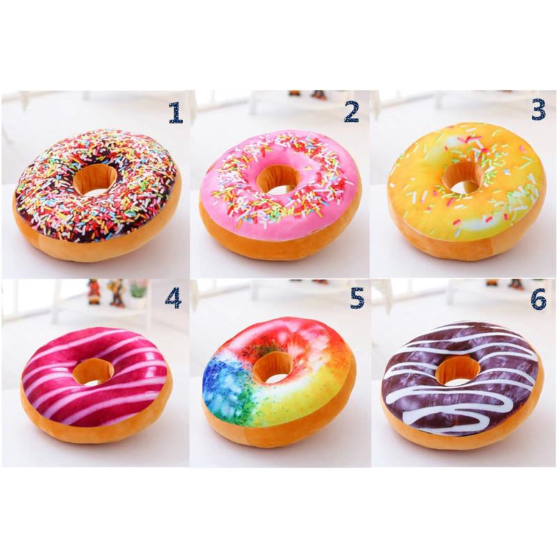 creative round doughnut bolsters cute donuts seat back pillow plush bedding toys