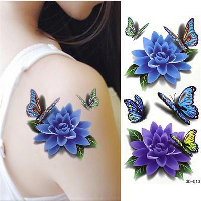 Lotus Flower Butterfly Tattoo