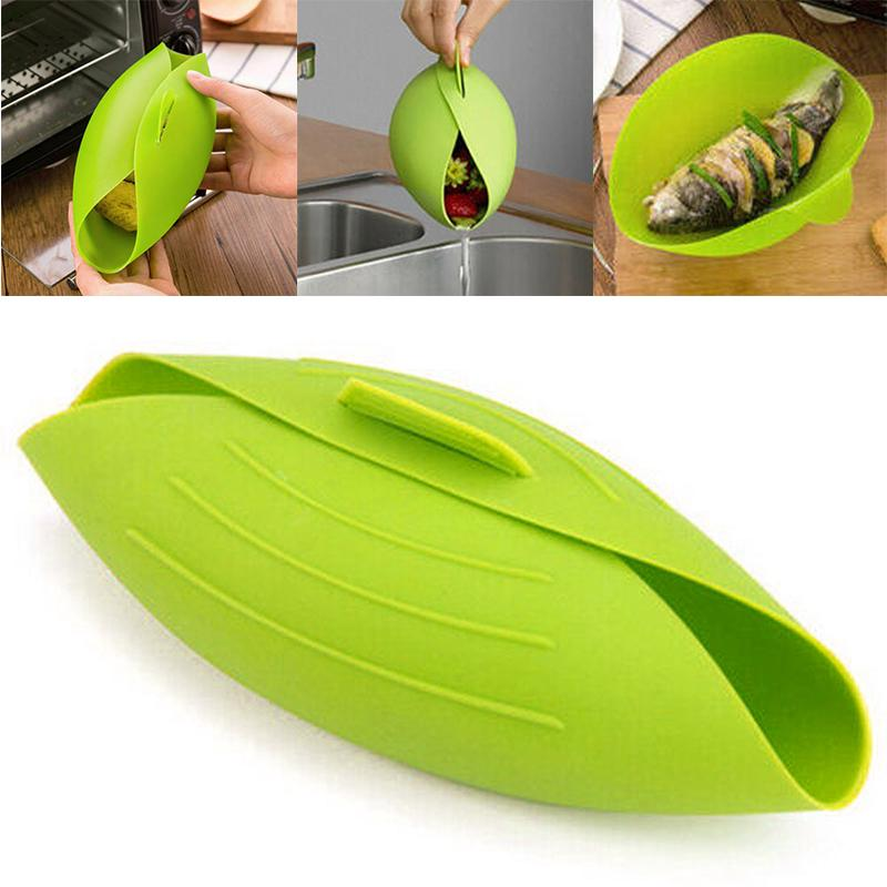 pdtoweb silicone folding bread baking bowl microwave oven steamer baking fish steam buy at a low prices on joom e commerce platform