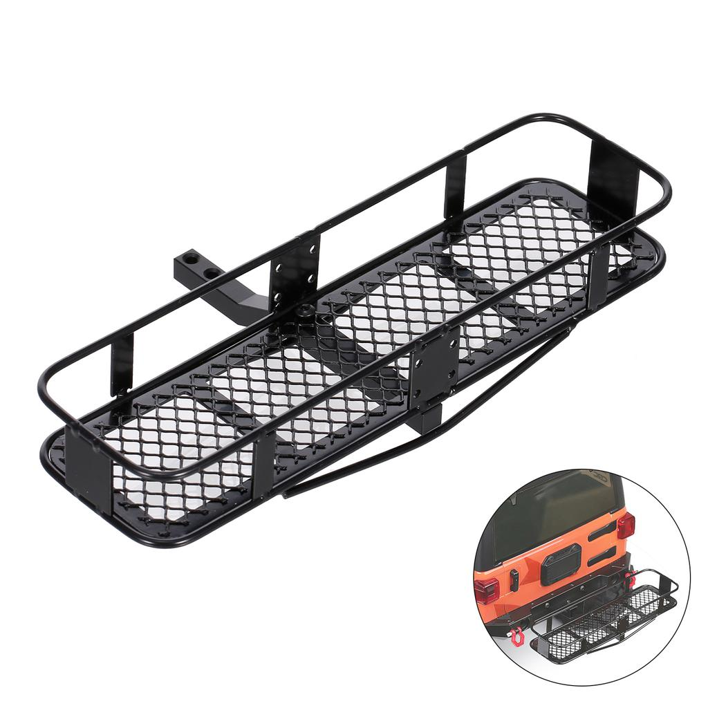 1 10 rc car back hitch cargo carrier luggage basket capacity basket trailer compatible with hsp