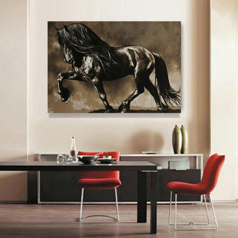 Humans have been riding horses and using them for work for millennia. Buy Black Horse Home Decorative Paintings Living Room Backdrop Paintings Frameless Painting Core At Affordable Prices Free Shipping Real Reviews With Photos Joom