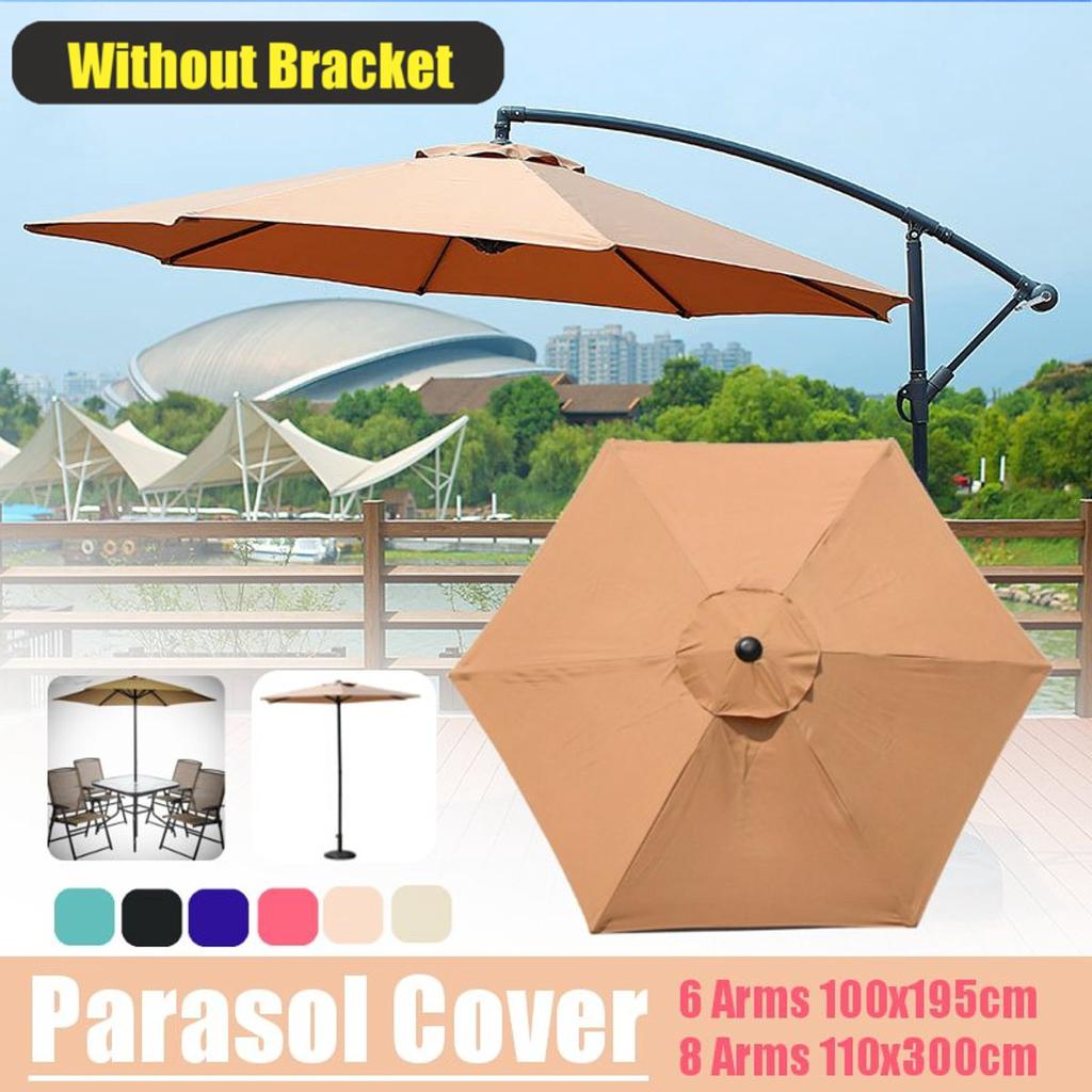 without pole only cover patio garden outdoor umbrella canopy parasol tent cover waterproof anticorrosion wind resistance sunshade beach fabric
