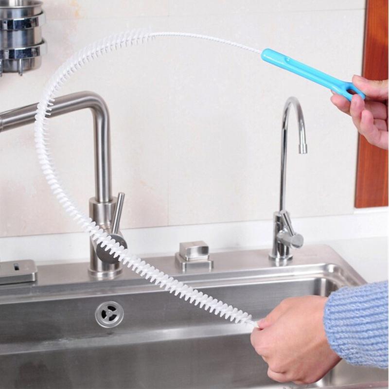 71cm flexible sink overflow drain unblocker clean brush cleaner kitchen tool