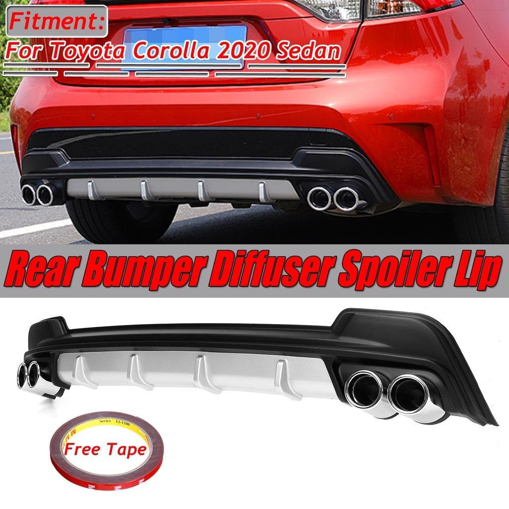 1xrear bumper diffuser spoiler lip shockproof great quality for toyota corolla 2020 l le xle sedan buy at a low prices on joom e commerce platform