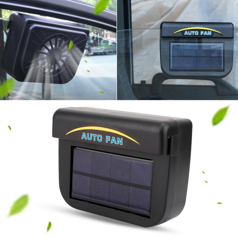 solar power car auto air vent cooling ventilation system heater exhaust fan