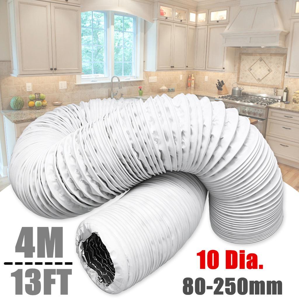 4m aluminum foil duct hose pipes fittings kitchen exhaust inline fan vent hoses ventilation air vent tube part 80 250mm diameter