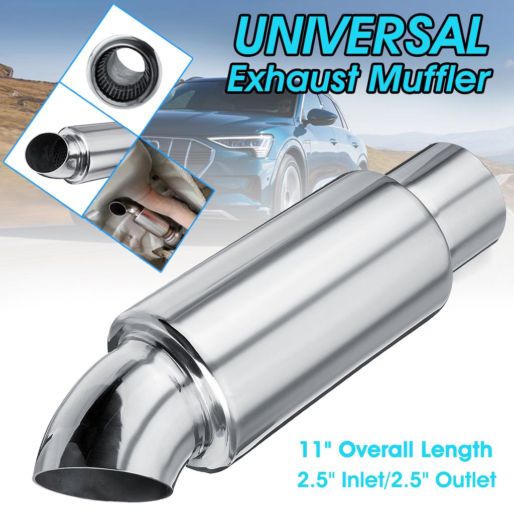 2 5 in outlet car muffler exhaust pipe downpipe branch sound tuning resonator buy at a low prices on joom e commerce platform
