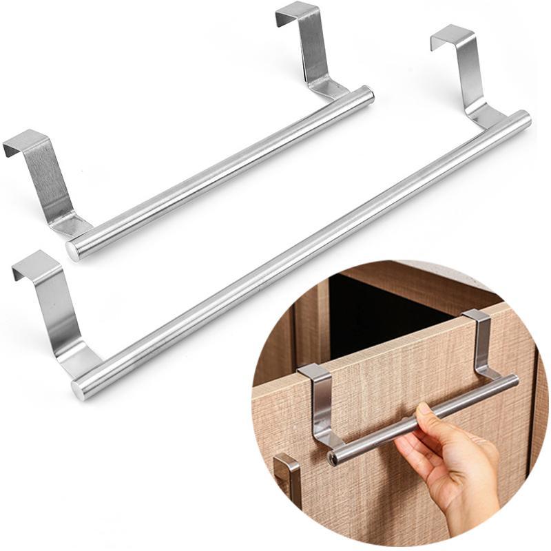 stainless steel towel rack bathroom towel holder stand kitchen cabinet door hanging organizer shelf wall mounted towel bar kopa till laga priser i